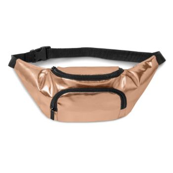 Metallic PU Belt Bag - Rose Gold